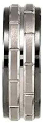 Ceramic & Tungsten 8 mm Black Ceramic Couture Band Ring Image 2