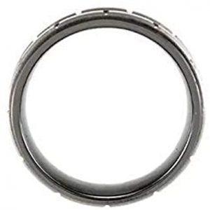 Ceramic & Tungsten 8 mm Black Ceramic Couture Band Ring Image 5