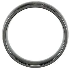 Ceramic & Tungsten 8 mm Ceramic Couture Domed Band Image 5