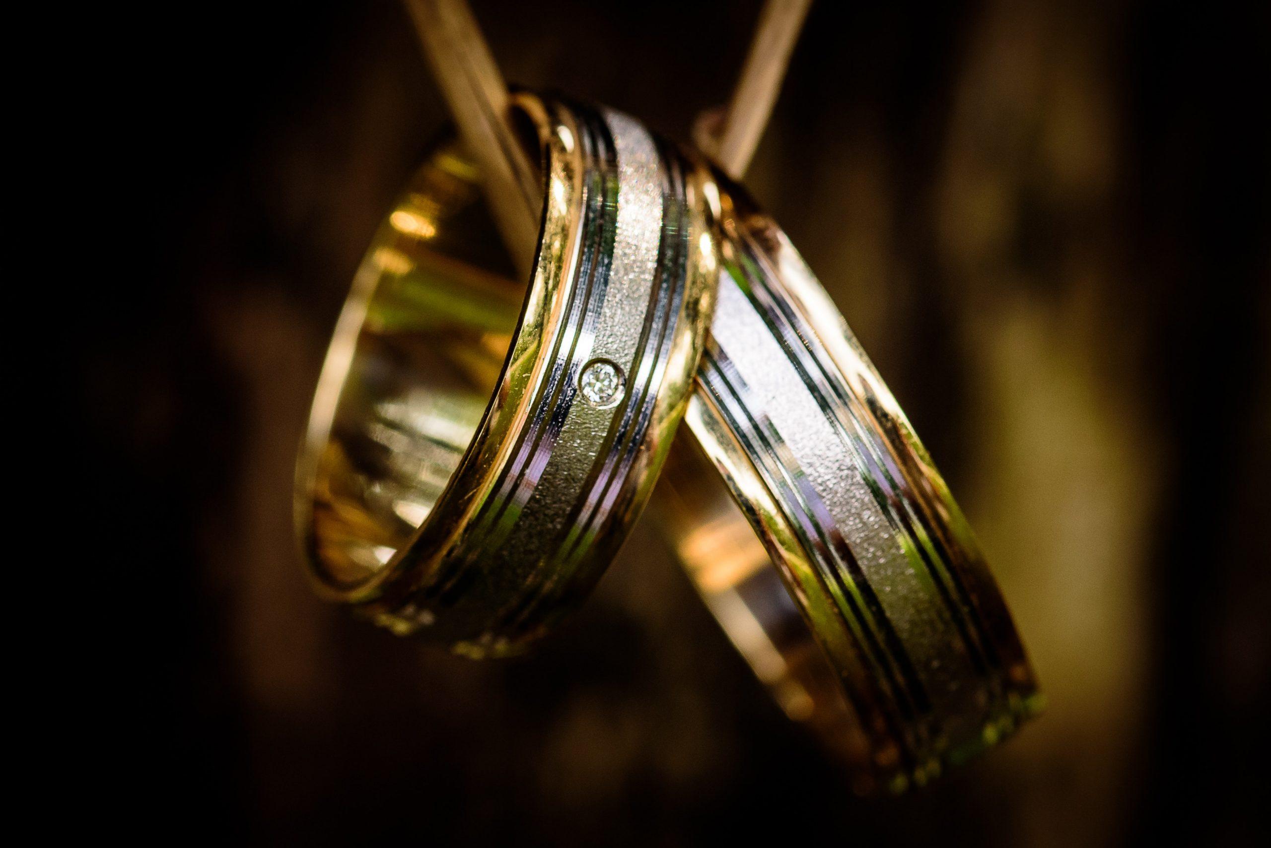 Gold & White Gold Diamond Wedding Band