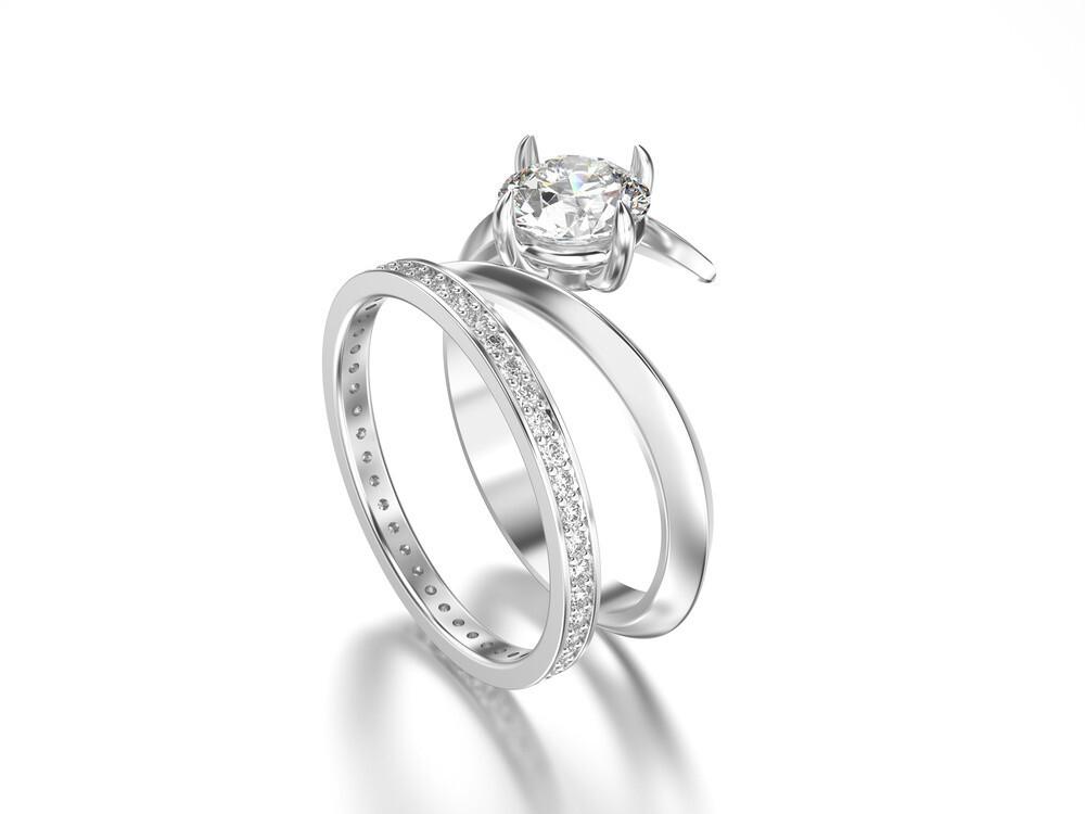 Matching Engagement & Wedding Ring