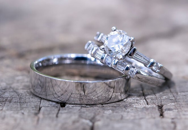 Sterling Silver Engagement Ring Bands