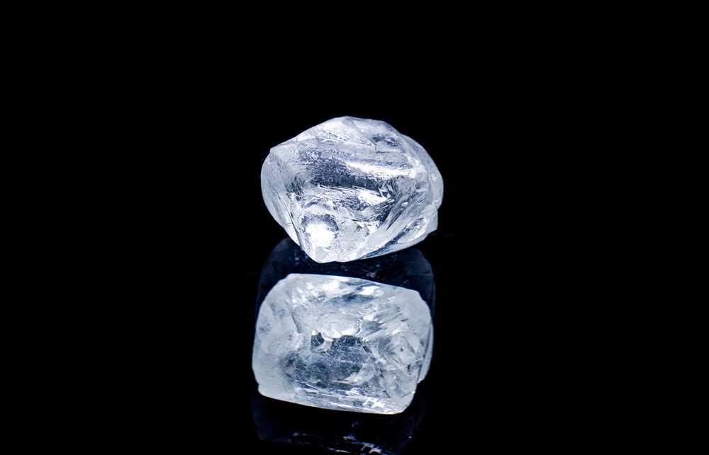 Blueish White Raw Diamond